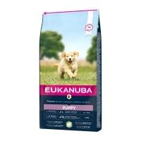 EUKANUBA Basic Puppy L-XL, Miel și Orez, hrană uscată câini junior, 12kg