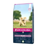 EUKANUBA Basic Puppy L-XL, Miel și Orez, pachet economic hrană uscată câini junior, 12kg x 2