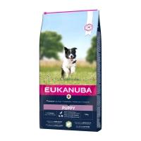 EUKANUBA Basic Puppy S-M, Miel și Orez, hrană uscată câini junior, 12kg