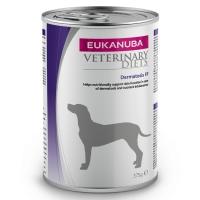 EUKANUBA Veterinary Diets Dermatosis, Somon și Hering, dietă veterinară câini, conservă hrană umedă, afecțiuni dermatologice, 375g
