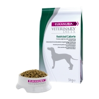 EUKANUBA Veterinary Diets Restricted Calories, Pui și Curcan, dietă veterinară câini, hrană uscată, afecțiuni metabolice (obezitate), 5kg