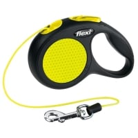 FLEXI Neon XS, lesă retractabilă câini, 8kg, șnur, 3m, neon
