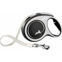 FLEXI New Comfort L, lesă retractabilă câini, 50kg, bandă, 8m, negru