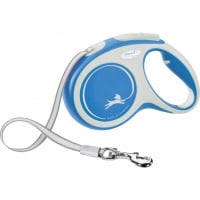 FLEXI New Comfort M, lesă retractabilă câini, 25kg, bandă, 5m, albastru