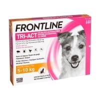 FRONTLINE Tri-Act, spot-on, soluție antiparazitară, câini 5-10kg, 3 pipete