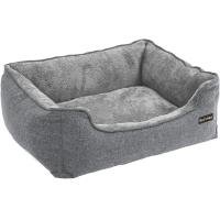 FEANDREA, pat câini, XL, husă detașabilă, gri, 110 x 75 x 27 cm