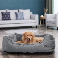 FEANDREA, pat câini, L, husă detașabilă, gri, 90 x 75 x 25 cm