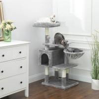 Feandrea Ansamblu de Joaca Pisici Multilevel Gri, 110 cm