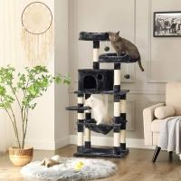 Feandrea Ansamblu de Joaca Pisici Melba Gri Inchis, 143 cm