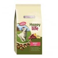 Versele Laga Happy Life Adult cu Miel, 15 kg + 3 kg Gratis