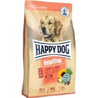 Happy Dog Natur Croq Somon si Orez, 12 kg