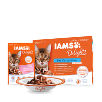 Iams Delights Cat Land&Sea Collection Multipack in Gravy, 12x85 g