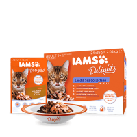 Iams Delights Cat Land&Sea Collection Multipack in Jelly, 12x85 g