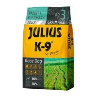 JULIUS-K9 Race Dog Adult, Iepure cu Rozmarin, hrană uscată fără cereale câini activi, 10kg