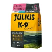 JULIUS-K9 Utility Dog Adult, Miel cu Ierburi, hrană uscată fără cereale câini, 3kg