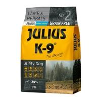 JULIUS-K9 Utility Dog Senior, Miel cu Ierburi, hrană uscată fără cereale câini senior, 10kg
