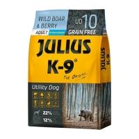 JULIUS-K9 Utility Dog Adult, Mistreț cu Merișoare, hrană uscată fără cereale câini, 3kg