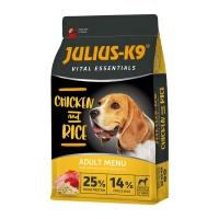 JULIUS-K9 Vital Essentials Adult, Pasăre cu Orez, hrană uscată câini, 12kg