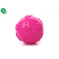 Jk Animals Jucarie Caine Minge cu Sunet TPR Roz 8 cm