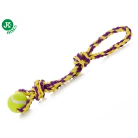 Jk Animals Jucarie Caine Sfoara si Minge Tenis Bumbac 43 cm