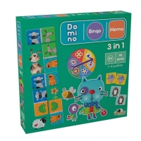 Joc Educativ Noriel 3 In 1, Bingo, Memo, Domino