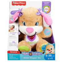 Jucarie de Plus Laugh & Learn Fisher Price Catelusa Vorbitoare