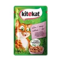 KITEKAT Natural Vitality, Somon, plic hrană umedă pisici, (în sos), 100g