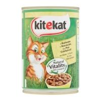 KITEKAT, Pui, pachet economic conservă hrană umedă pisici, 400g x 6