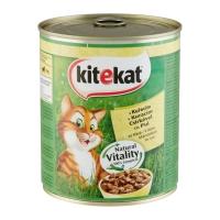 KITEKAT, Pui, pachet economic conservă hrană umedă pisici, (în sos), 800g x 6