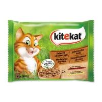 KITEKAT Selecții Vânătorești, Vită și Pui, pachet mixt, plic hrană umedă pisici, (în sos), 100g x 4