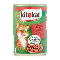 KITEKAT, Vită, pachet economic conservă hrană umedă pisici, 400g x 6