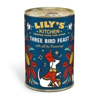 LILY'S KITCHEN Christmas Three Bird Feast Tin, Curcan, hrană umedă câini, 400g
