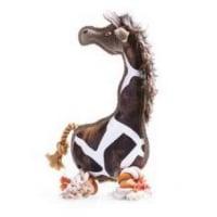 Leopet Jucarie Caine Girafa Piele Eco Panza si Sfoara 29 cm