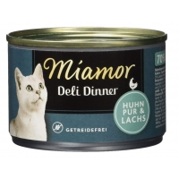 Miamor Deli Dinner Cat Pui si Somon 175g