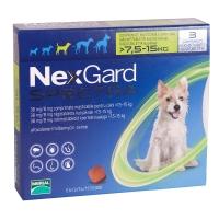 NEXGARD Spectra, comprimate masticabile antiparazitare, câini 7.5-15kg, 3 comprimate
