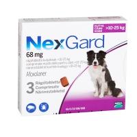NEXGARD, comprimate masticabile antiparazitare, câini 10-25kg, 3 comprimate