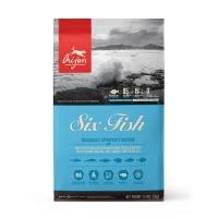 ORIJEN Six Fish, pachet economic hrană uscată fără cereale câini, 11.4kg x 2