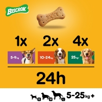 PEDIGREE Biscrok Multi Mix, recompense câini, biscuiți, Pui, Vită și Miel , 200g