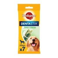 PEDIGREE DentaStix Daily Fresh, recompense câini talie mare, batoane, ceai verde, 7buc