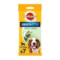 PEDIGREE DentaStix Daily Fresh, pachet economic recompense câini talie medie, batoane, ceai verde, 7buc x 4