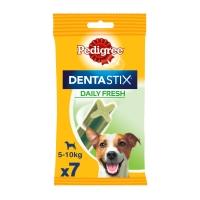PEDIGREE DentaStix Daily Fresh, pachet economic recompense câini talie mica, batoane, ceai verde, 7buc x 4