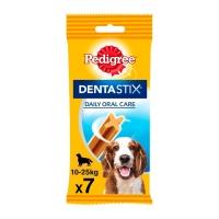 PEDIGREE DentaStix Daily Oral Care, pachet economic recompense câini talie medie, batoane, 7buc x 4