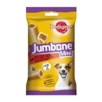 PEDIGREE Jumbone Mini, recompense câini, Vită și Pasăre, batoane, 4 buc, 160g