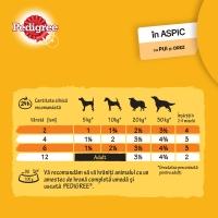 PEDIGREE Junior, Pui, pachet economic conservă hrană umedă câini junior, (în aspic), 400g x 12