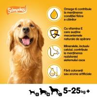 PEDIGREE Schmackos Multi Mix, recompense câini, benzi moi, carne, 5buc
