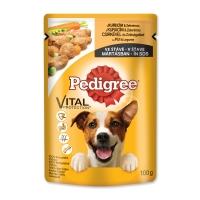 PEDIGREE Vital Protection Adult, Pui, pachet economic plic hrană umedă câini, (în sos), 100g x 30