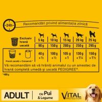 PEDIGREE Vital Protection Adult, Pui și Legume, hrană uscată câini, 2.6kg