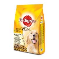 PEDIGREE Vital Protection Adult, Pui și Legume, pachet economic hrană uscată câini, 8.4kg x 2