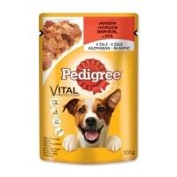 PEDIGREE Vital Protection Adult, Vită, plic hrană umedă câini, (în aspic), 100g