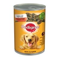 PEDIGREE Vital Protection Adult, Vită și Pasăre, pachet economic conservă hrană umedă câini, (în aspic), 400g x 12